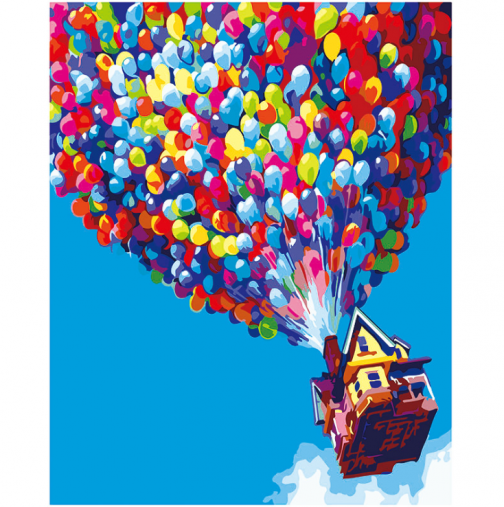 Air ballons   számfestő készlet