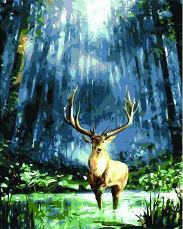Deer in the woods számfestő készlet