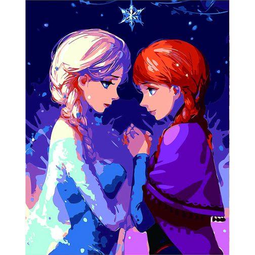 Frozen számfestő készlet