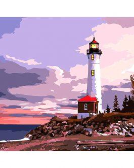Lighthouse számfestő készlet
