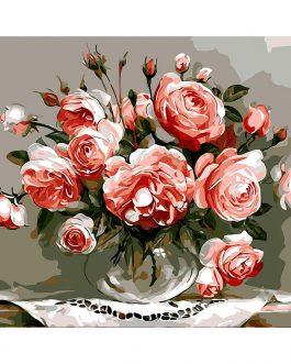 Rózsás számfestő készlet