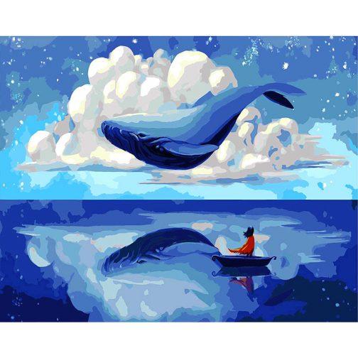 Blue Whale   számfestő készlet