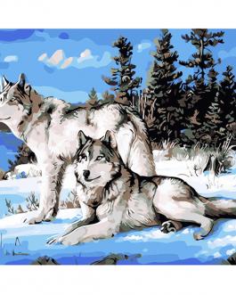 Farkasok számozott kifestő