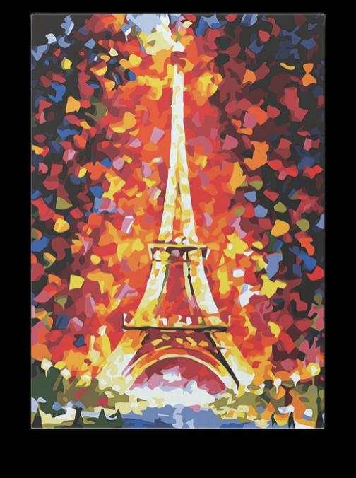 Őszi Eiffel torony számfestő készlet