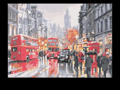 Londoni forgalom számfestő készlet