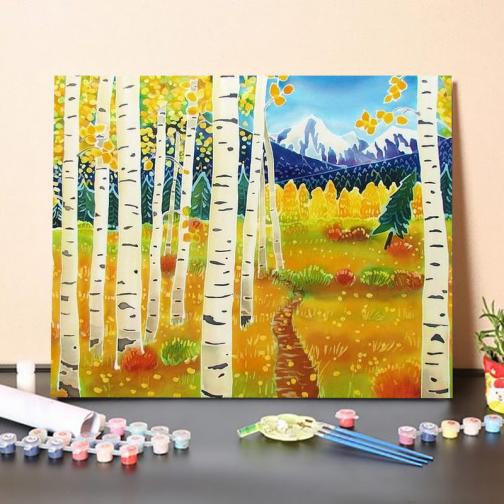 Nyár erdő számfestő készlet