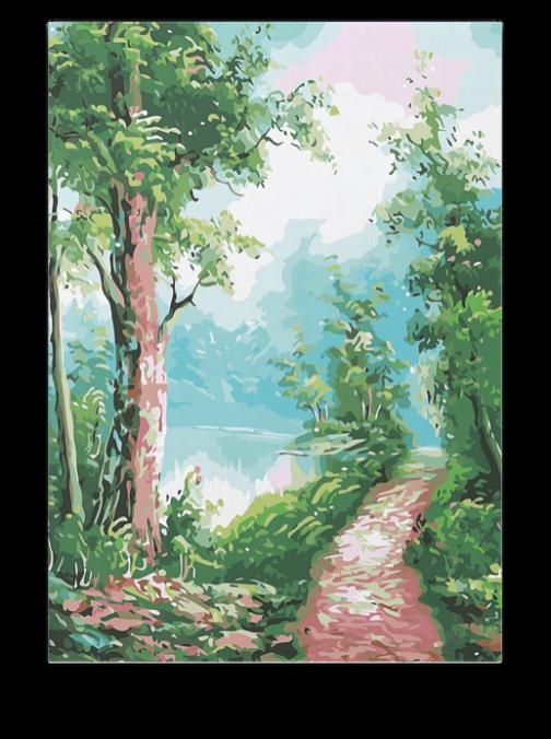 Erdei út számfestő készlet
