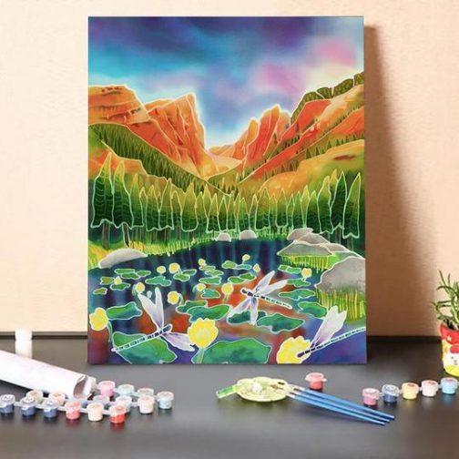 Rocky Mountain számfestő készlet